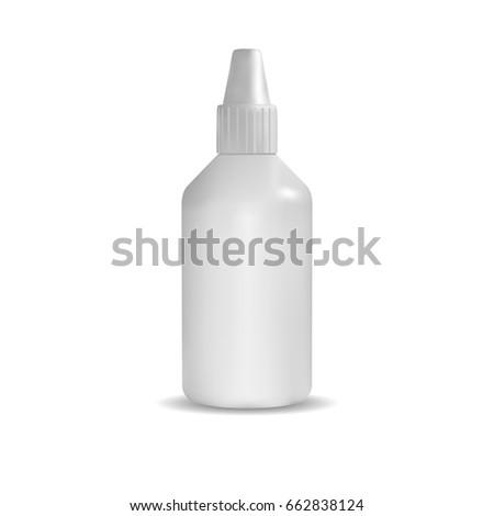 template empty plastic bottle cap packaging stock vector royalty