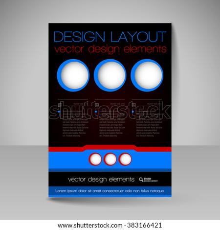 template flyer business brochures presentations websites stock