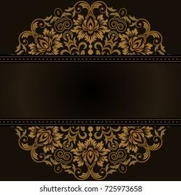 Template frame design for greeting card, vector Illustration