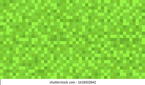 Template green seamless pixel background, backdrop, cover, pattern. Green pixel wallpaper. Vector illustration. EPS 10