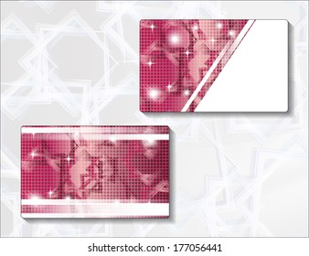 Template for greeting card with abstract design