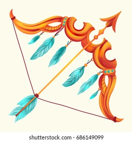 Template greeting card or illustration with Zodiac sign. Sagittarius. Can be used for postcards, print, etc.