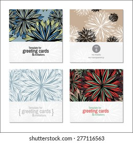 template greeting card or invitation for holidays anniversaries parties gala events hand