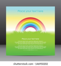 Similar images stock photos vectors of blank clouds rainbow template of greeting card with rainbow reheart Images