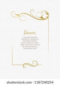 Template for greeting cards, invitations, menus. Wedding invitation.