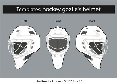 Template Hockey Goalies Helmet For Drawing Patterns And Staining