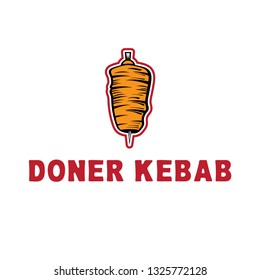 template icon logo for doner kebab -vector illustration