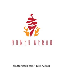 template icon logo for doner kebab -vector illustration
