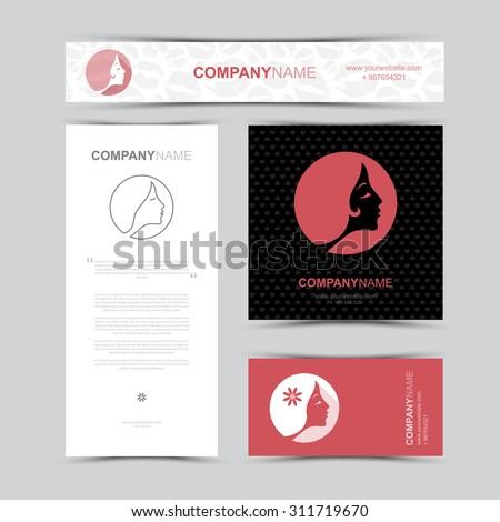 Template Identity Beauty Salon Business Card Stock Vector Royalty