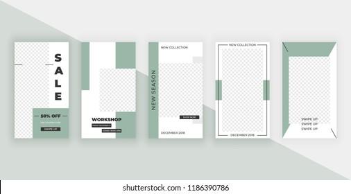 Template for Instagram Stories. Modern fashion cover design for social media, flyers.