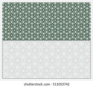 Template for an invitation or greeting card with a floral pattern and place for text. Vector illustration. For Valentine's Day celebrations, wedding, birthday, engagement party
