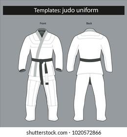 Template: kimono for judo.mockup.