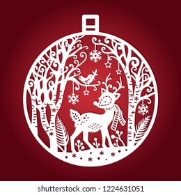 Border Stencil Christmas Santa Holly Tree Trumpet Stencil Metal emboss