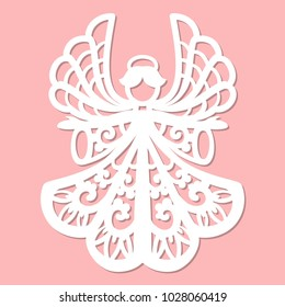 A template for laser cutting.Design elements for holiday cards.
