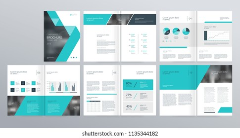 template layout design with cover page for company profile ,annual report , brochures, flyers, presentations, leaflet, magazine,book . and vector a4 size for editable