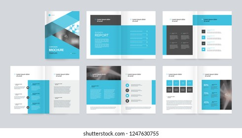 template layout design with cover page for company profile ,annual report , brochures,proposal , flyers, leaflet, magazine,book concept  and vector a4 scale size for editable.