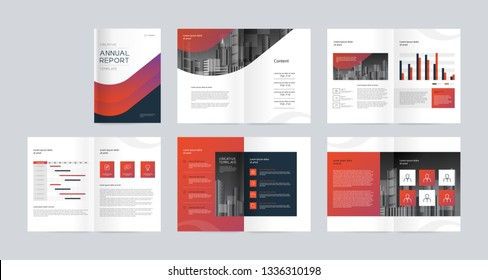 template layout design with cover page for company profile ,annual report , brochures, flyers, presentations, leaflet, magazine, book . and vector a4 size for editable.