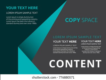 Template layout design, Leaflet advertising, poster, magazine, Brochure and Poster design, Empty copy space, Business Financial for background, Flat style vector illustration artwork design.