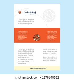 Template layout for Golfball  comany profile ,annual report, presentations, leaflet, Brochure Vector Background