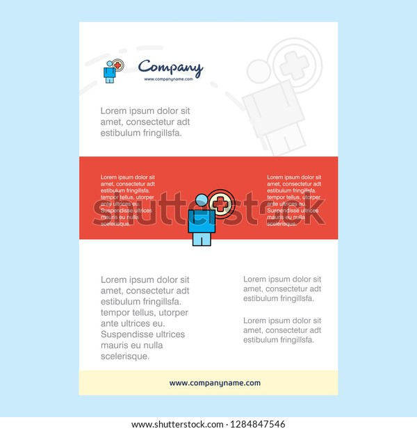 Template Layout Medical Doctor Comany Profile Stock Vector