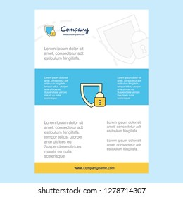 Template layout for Protected comany profile ,annual report, presentations, leaflet, Brochure Vector Background