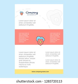 Template layout for Secure cloud  comany profile ,annual report, presentations, leaflet, Brochure Vector Background