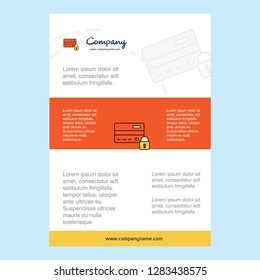 Template layout for Secure credit card comany profile ,annual report, presentations, leaflet, Brochure Vector Background