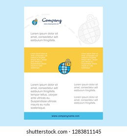 Template layout for Secure internet  comany profile ,annual report, presentations, leaflet, Brochure Vector Background
