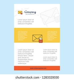 Template layout for Secure mail comany profile ,annual report, presentations, leaflet, Brochure Vector Background
