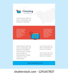 Template layout for Secure website comany profile ,annual report, presentations, leaflet, Brochure Vector Background