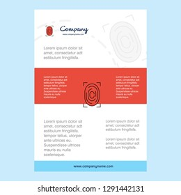 Template layout for Thumb Impression  comany profile ,annual report, presentations, leaflet, Brochure Vector Background