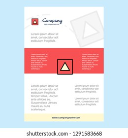 Template layout for Traingle shape comany profile ,annual report, presentations, leaflet, Brochure Vector Background