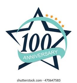 Template Logo 100 Anniversary Vector Illustration EPS10