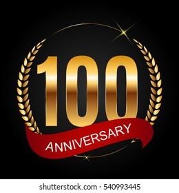 Template Logo 100 Years Anniversary Vector Illustration EPS10