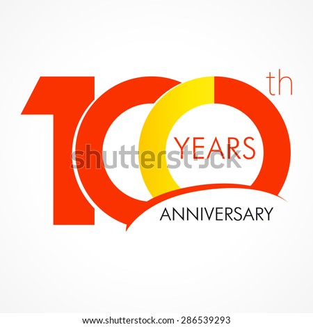 template logo 100th anniversary circle form のベクター画像素材