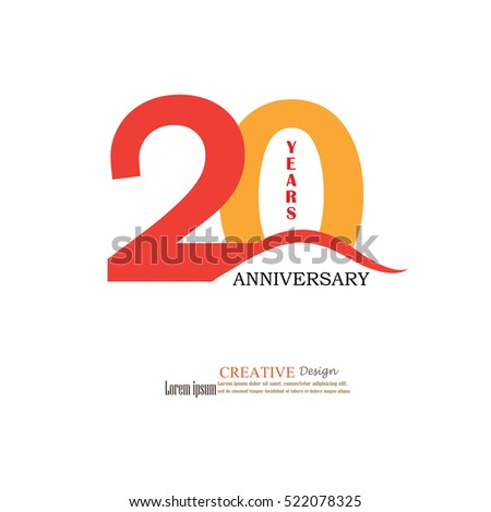 template logo 20th anniversary 20 years のベクター画像素材