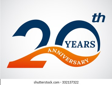 Template logo 20th anniversary years logo.-vector illustration