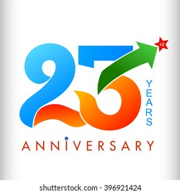 Template logo 23rd anniversary color with star, vector illustrator