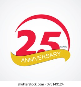 Template Logo 25 Anniversary Vector Illustration EPS10