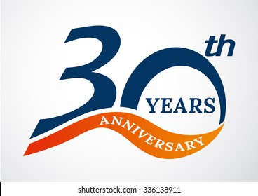 Template logo 30th anniversary years logo.-vector illustration