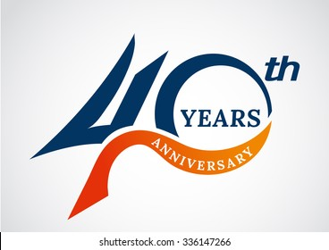 Template logo 40th anniversary years logo.-vector illustration