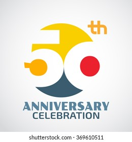 Template Logo 50th anniversary with a circle and the number50 in it and labeled the anniversary year.