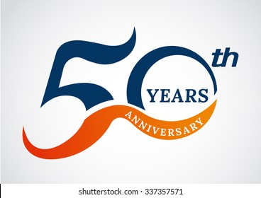 Template logo 50th anniversary years logo.-vector illustration
