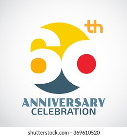 Template Logo 60th anniversary with a circle and the number60 in it and labeled the anniversary year.