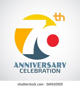 Template Logo 70th anniversary with a circle and the number70 in it and labeled the anniversary year.
