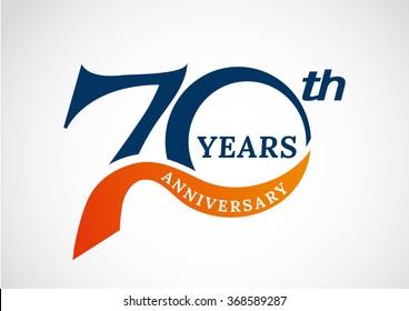 Template logo 70th anniversary years logo.-vector illustration