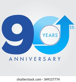 Template logo 90th anniversary, vector illustrator