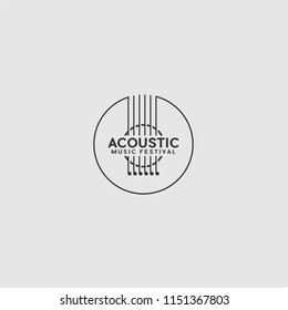 TEMPLATE LOGO ACOUSTIC GUITAR