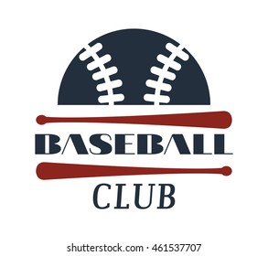 Template logo for baseball sport team with sport sign and symbols