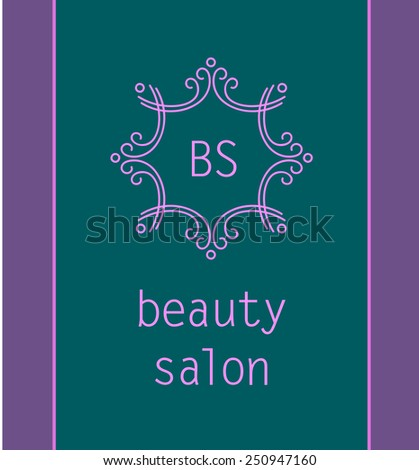 template logo beauty aesthetic medicine clinic stock vector royalty